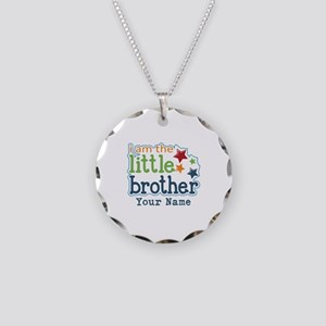 Little Brother - Personalized Necklace Circle Char