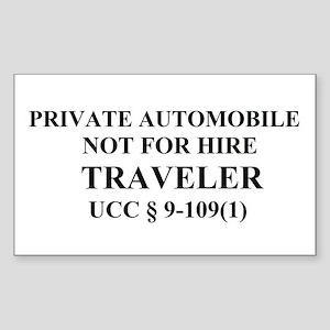 TRAVELER - Black Sticker