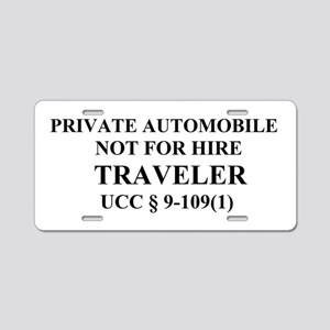 TRAVELER - Black Aluminum License Plate