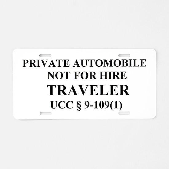 TRAVELER - Black Aluminum License Plate
