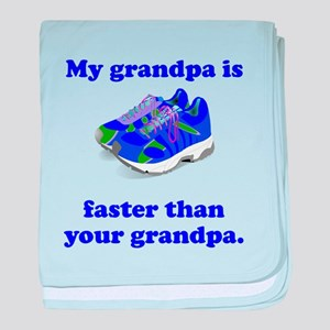 My Grandpa Is Faster baby blanket