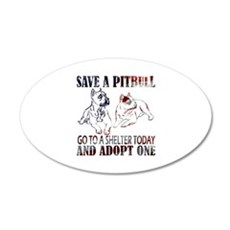 SAVE A PIT BULL GO TO A SHELTER AF2a Wall Decal