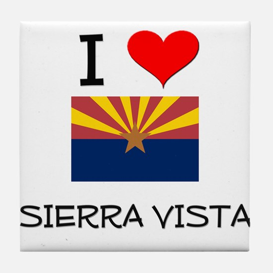 I Love Sierra Vista Arizona Tile Coaster
