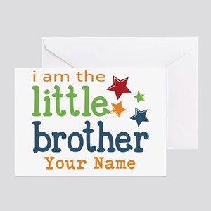 I am the Little Brother Greeting Card
