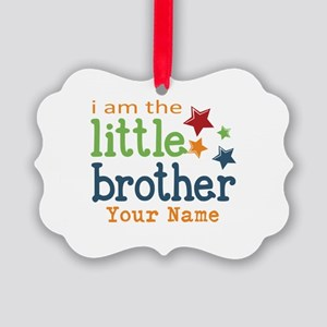 I am the Little Brother Picture Ornament