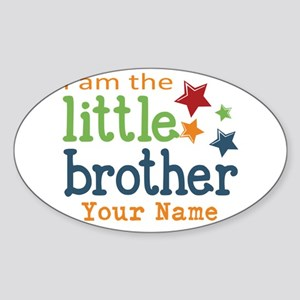 I am the Little Brother Sticker (Oval)