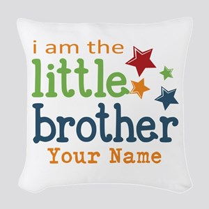 I am the Little Brother Woven Throw Pillow
