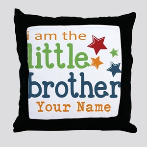 I am the Little Brother Throw Pillow