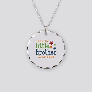 I am the Little Brother Necklace Circle Charm