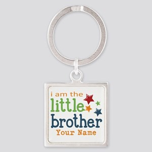 I am the Little Brother Square Keychain