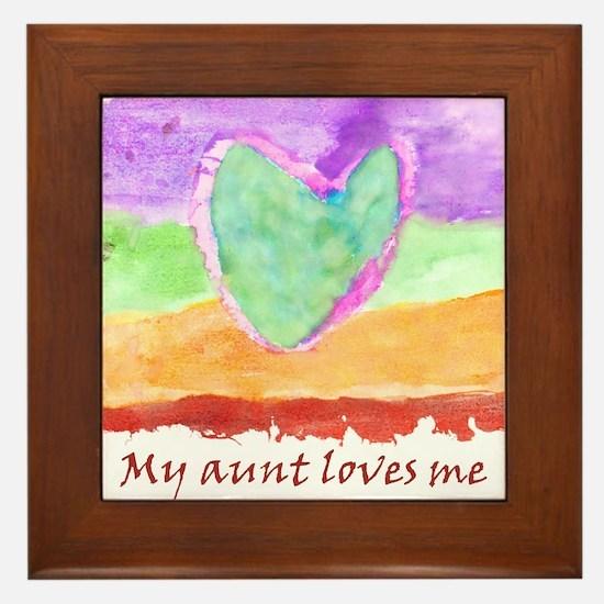 Valentine My Aunt Loves Me Framed Tile
