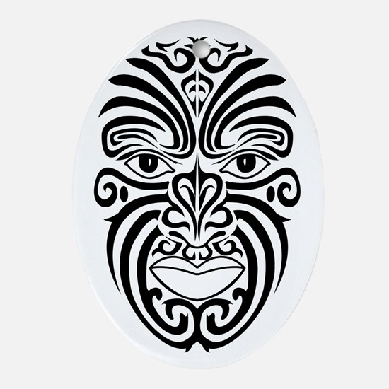 AbOriginalzc Maori Moko Oval Ornament