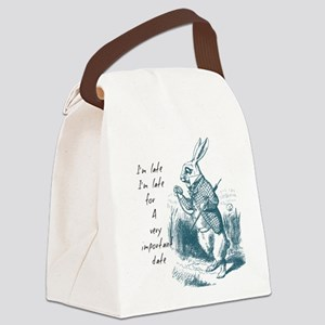 Late Rabbit Canvas Lunch Bag