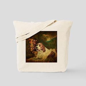 vintage dog nature landscape Tote Bag