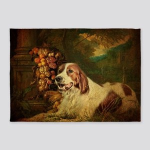 vintage dog nature landscape 5'x7'Area Rug