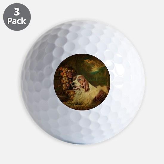 vintage dog nature landscape Golf Ball