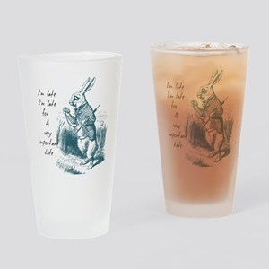 Late Rabbit Drinking Glass