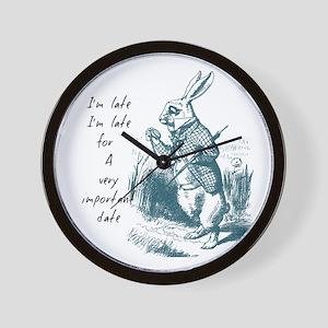 Late Rabbit Wall Clock
