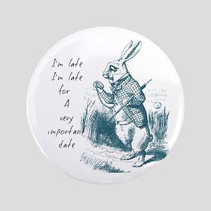 "Late Rabbit 3.5"" Button"