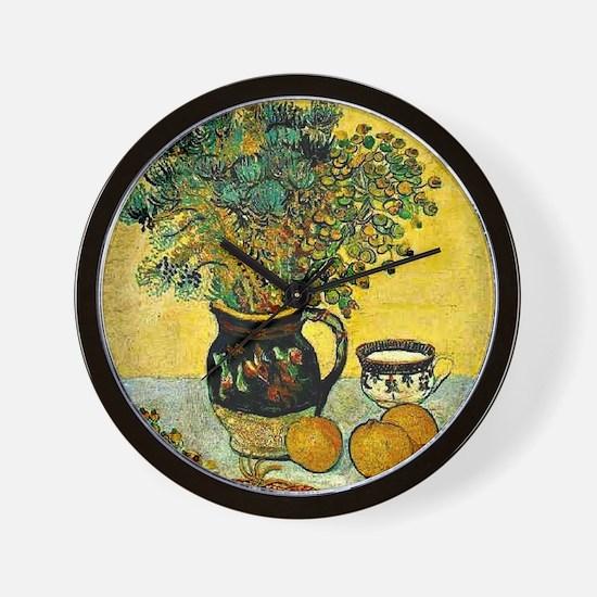 Van Gogh - Still Life Majolica Jug with Wall Clock