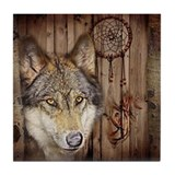 Wolf Tile Coasters