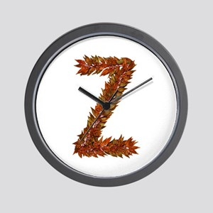 Z Fall Leaves Wall Clock