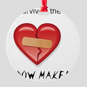 widow maker design Round Ornament