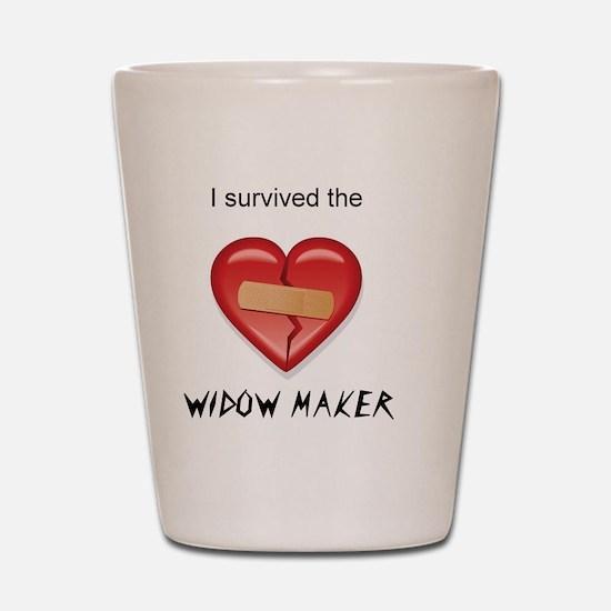 widow maker design Shot Glass