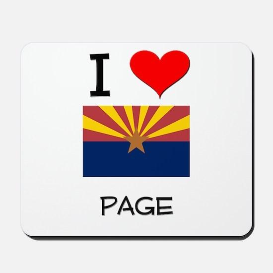 I Love Page Arizona Mousepad