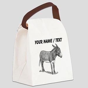 Custom Mule Sketch Canvas Lunch Bag