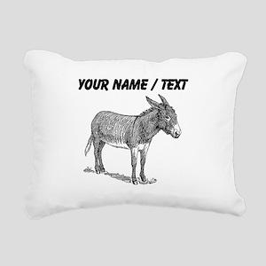 Custom Mule Sketch Rectangular Canvas Pillow