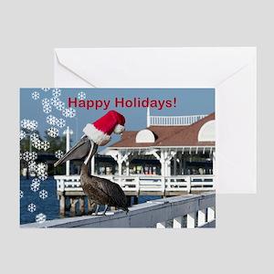 Pelican greetings Greeting Cards