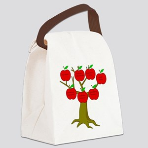 Family Tree Occupations Canvas Lunch Bag