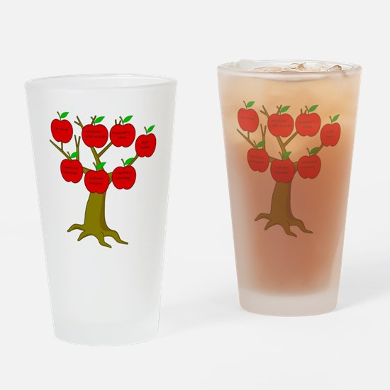 Family Tree Occupations Drinking Glass
