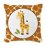 Yellow Giraffe with Giraffe Print Woven Throw Pill