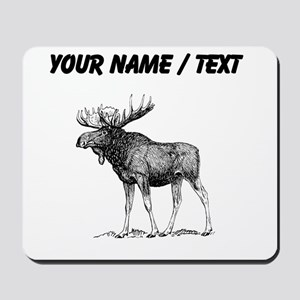 Custom Moose Sketch Mousepad