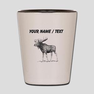 Custom Moose Sketch Shot Glass