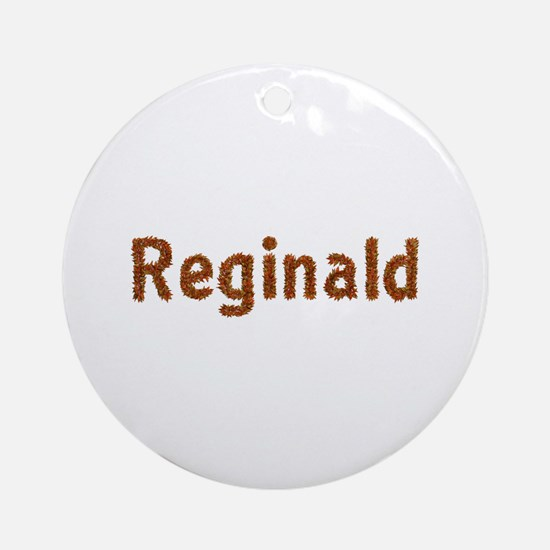 Reginald Fall Leaves Round Ornament