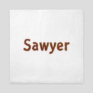 Sawyer Fall Leaves Queen Duvet