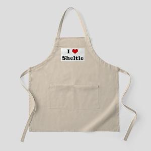I Love Sheltie BBQ Apron