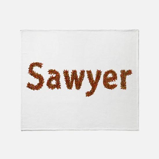 Sawyer Fall Leaves Throw Blanket
