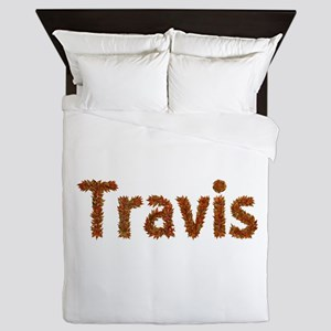 Travis Fall Leaves Queen Duvet