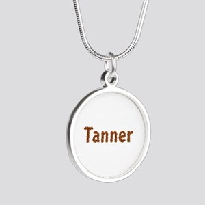 Tanner Fall Leaves Silver Round Necklace