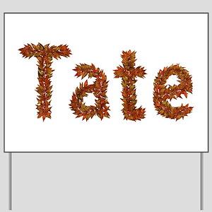 Tate Fall Leaves Yard Sign