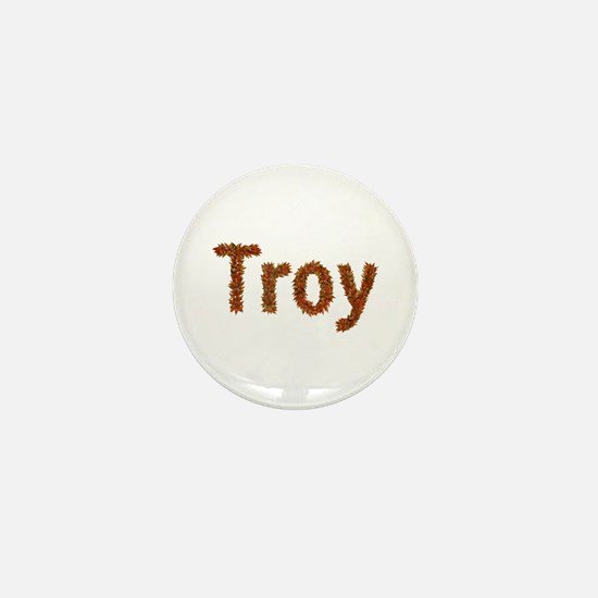 Troy Fall Leaves Mini Button