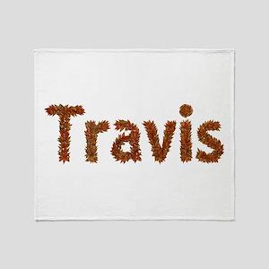 Travis Fall Leaves Throw Blanket