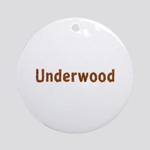 Underwood Fall Leaves Round Ornament