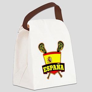 ESPAÑA Spanish Lacrosse Flag Canvas Lunch Bag