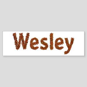 Wesley Fall Leaves Bumper Sticker