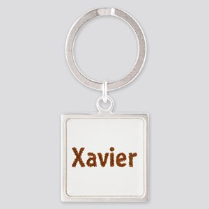 Xavier Fall Leaves Square Keychain